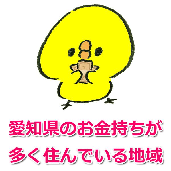 愛知県でお金持ちが多い地域4つ