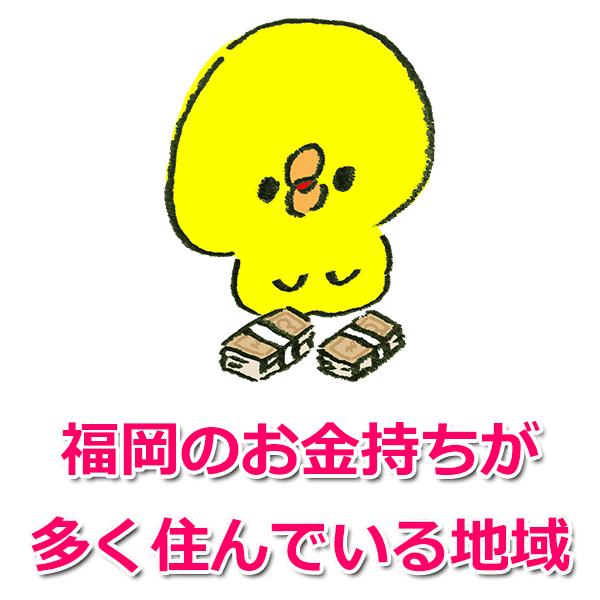 福岡でお金持ちが多い地域2つ